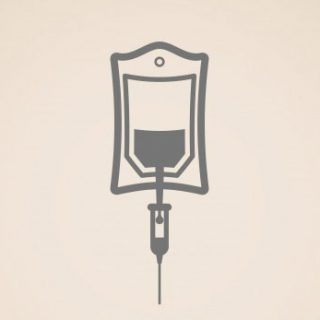 graphic of an IV drip